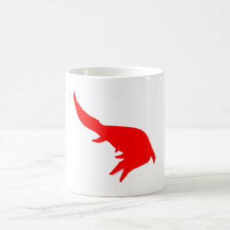 Mosasaurs Giganteus Silhouette (Red) Classic White Coffee Mug