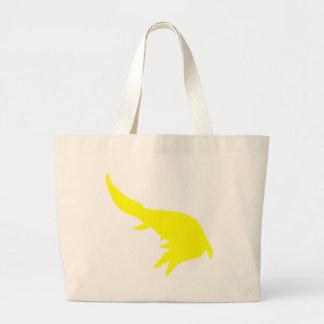 Mosasaurs Giganteus Silhouette (Yellow) Jumbo Tote Bag