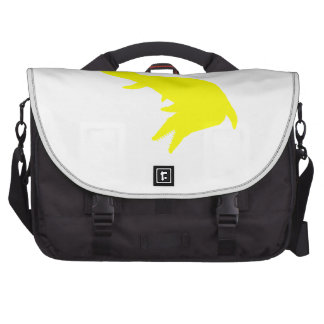 Mosasaurs Giganteus Silhouette (Yellow) Laptop Commuter Bag
