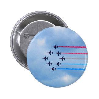 Mosca a las acrobacias aéreas del staffel del vuel pins