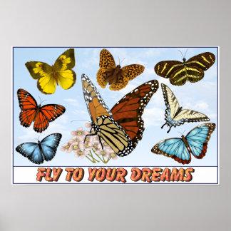 Mosca a sus sueños posters