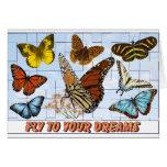 Mosca a sus sueños tarjeta
