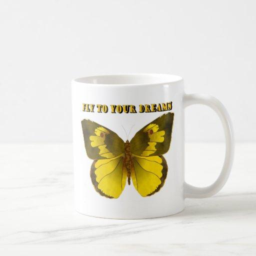 Mosca a sus sueños taza de café
