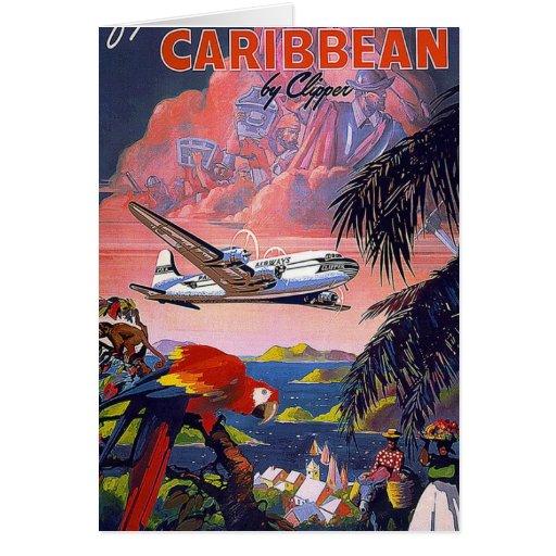 Mosca al vintage del Caribe Felicitaciones