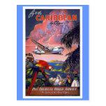 Mosca al vintage del Caribe Tarjeta Postal
