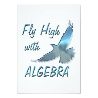 """Mosca alta con álgebra invitación 5"""" x 7"""""""