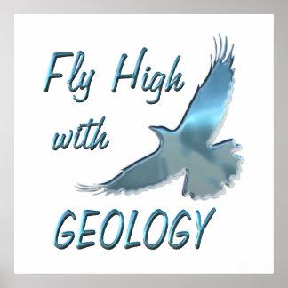 Mosca alta con la geología poster