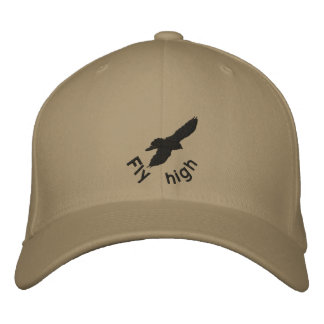 Mosca alta, cuervo, gorra del bordado gorra bordada
