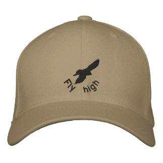 Mosca alta, cuervo, gorra del bordado gorro bordado