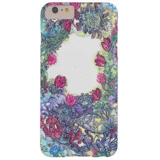 Mosca alta, modelo infrecuente de la flor azul funda para iPhone 6 plus barely there