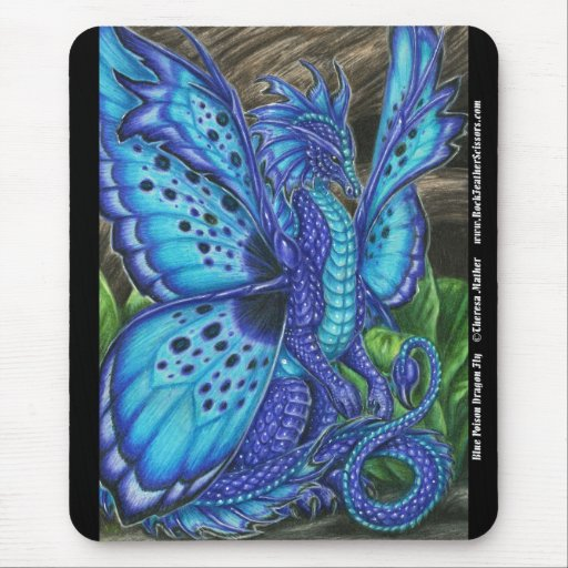 Mosca azul Mousepad del dragón del veneno