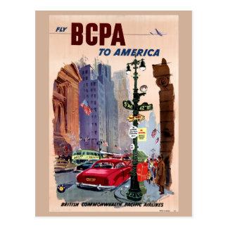 Mosca BCPA al poster del vintage de América Tarjeta Postal