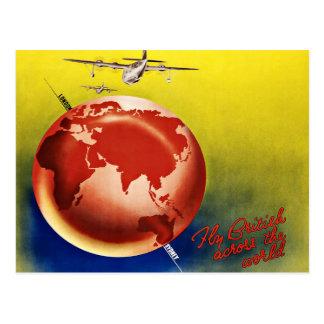 Mosca Britsh del viaje del vintage a través del Postales