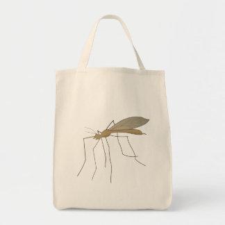 mosca de grúa del mosquito bolsa lienzo