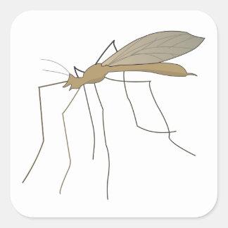 mosca de grúa del mosquito calcomania cuadradas