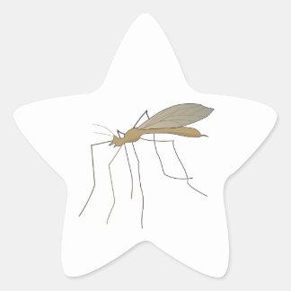 mosca de grúa del mosquito calcomanía forma de estrella personalizada