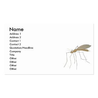 mosca de grúa del mosquito tarjetas personales