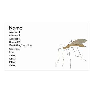 mosca de grúa del mosquito plantilla de tarjeta de negocio