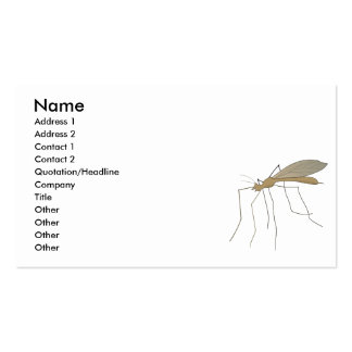 mosca de grúa del mosquito tarjeta de visita