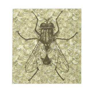 mosca de la casa bloc de papel
