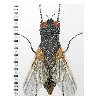 mosca de la casa. cuaderno