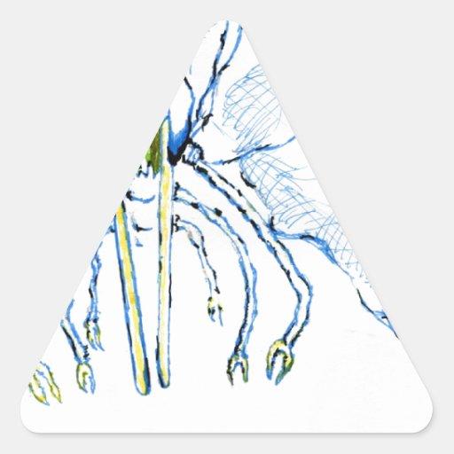 Mosca de la libélula I Calcomanía De Triangulo Personalizadas