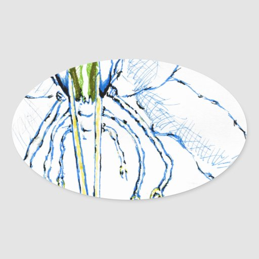 Mosca de la libélula I Pegatinas Oval Personalizadas