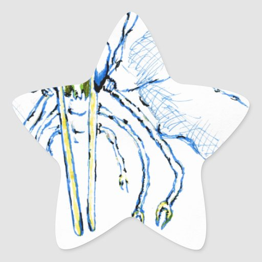 Mosca de la libélula I Pegatinas Forma De Estrella