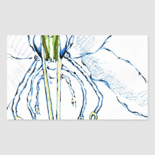 Mosca de la libélula I Rectangular Pegatina