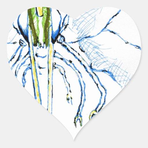 Mosca de la libélula I Calcomania Corazon