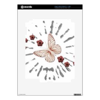 Mosca de la mariposa ausente iPad 2 calcomanía