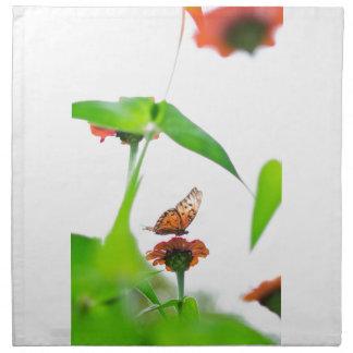 Mosca de la mariposa servilletas de papel