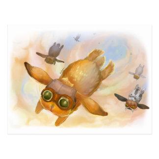 Mosca de la mosca de la mosca del conejito tarjetas postales