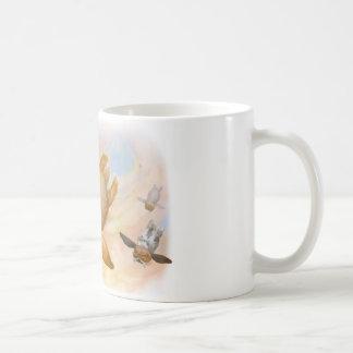 Mosca de la mosca de la mosca del conejito taza de café