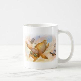 Mosca de la mosca de la mosca del conejito tazas de café