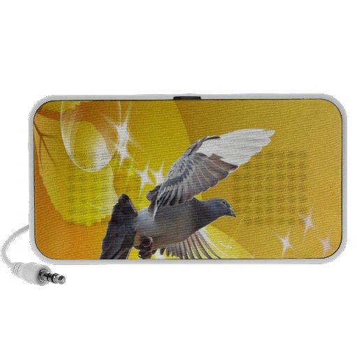 mosca de la paloma para amar paz de la alegría iPhone altavoces