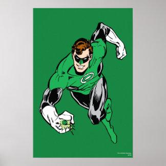 Mosca de linterna verde adelante póster