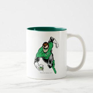 Mosca de linterna verde adelante taza