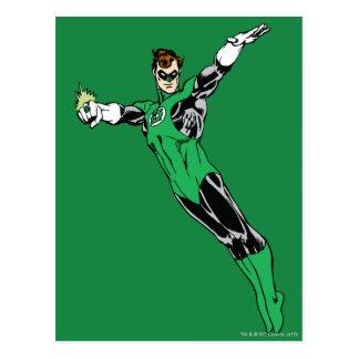 Mosca de linterna verde para arriba tarjetas postales