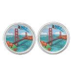 Mosca de puente Golden Gate de San Francisco más Gemelos