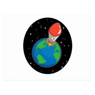 Mosca de Rocket de la tierra Postales