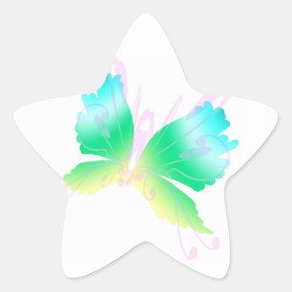 Mosca de Swirly III Pegatina En Forma De Estrella
