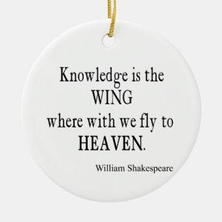 Mosca del ala del conocimiento a la cita de Shakes Ornaments Para Arbol De Navidad