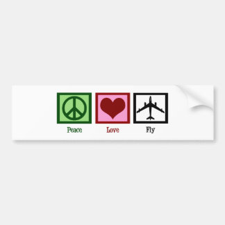 Mosca del amor de la paz pegatina para auto