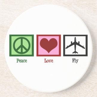 Mosca del amor de la paz posavasos manualidades