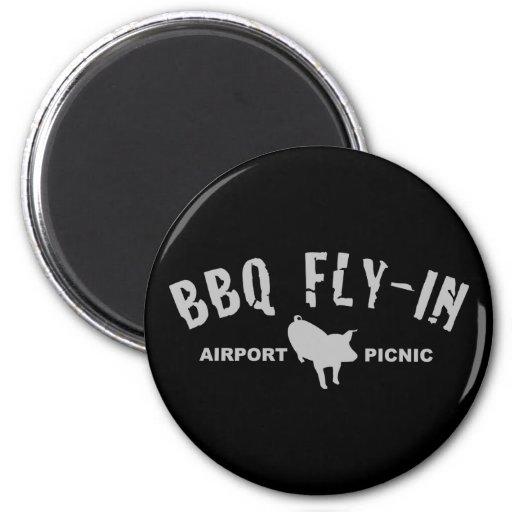 Mosca del Bbq en cerdo Imán Para Frigorifico