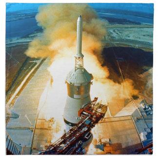 mosca del cohete de Apolo once para el éxito Servilletas Imprimidas