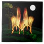 Mosca del fuego azulejo