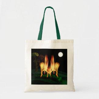 Mosca del fuego bolsas lienzo