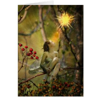 mosca del fuego tarjeta de felicitación